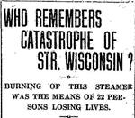 "Catastrophe of the Steamer ""Wisconsin"""