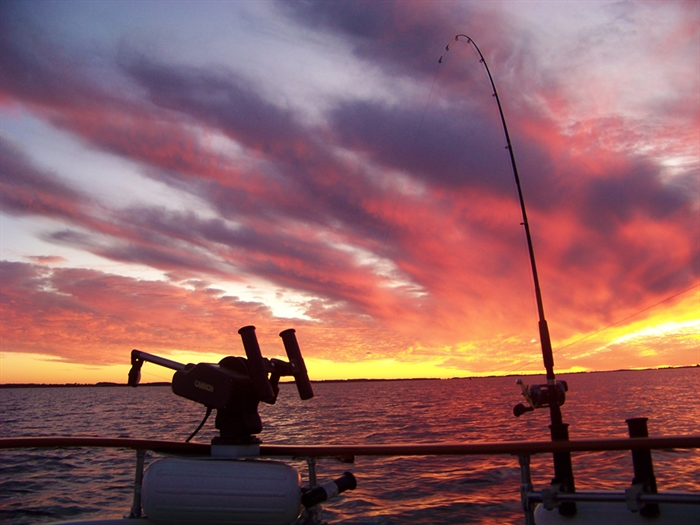 Fishing Fire Sunset, Photo by Rich Clarke