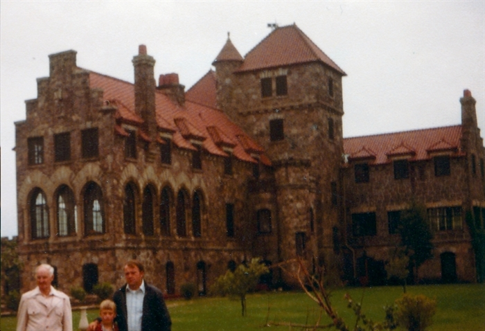 My family visiting me at Jorstadt Castle