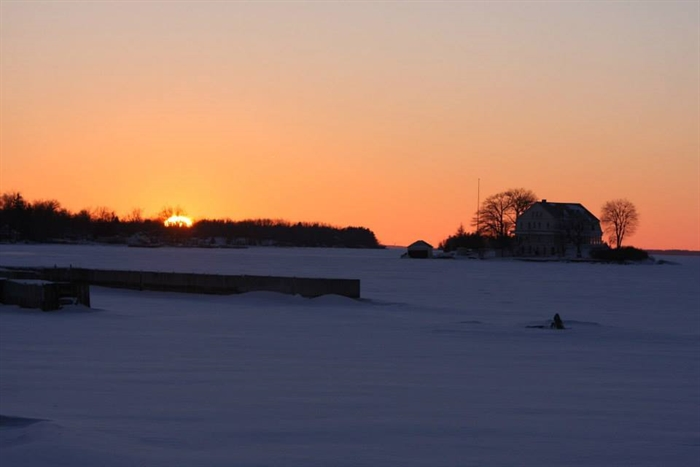 Bob Gates says even winter sunsets are lovely.