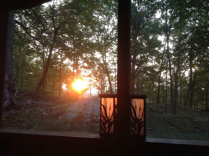Sunrise on Ash Island from the screened porch Oct 2nd 2013, by Nora Detlor