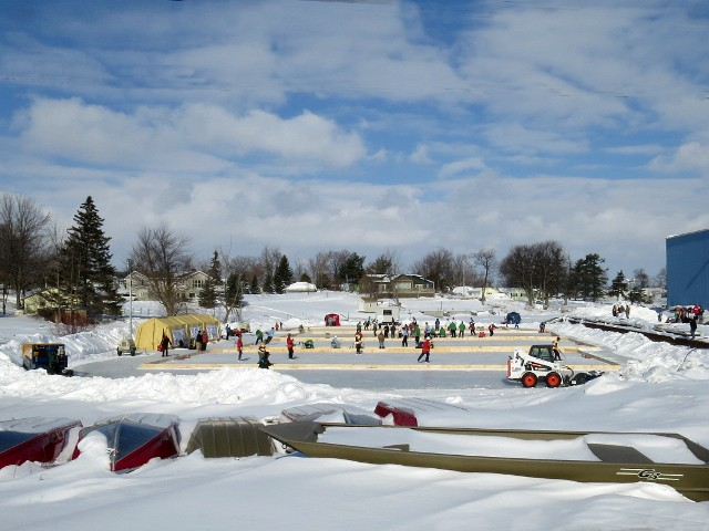 Dennis McCarthy captures the outdoor rink.