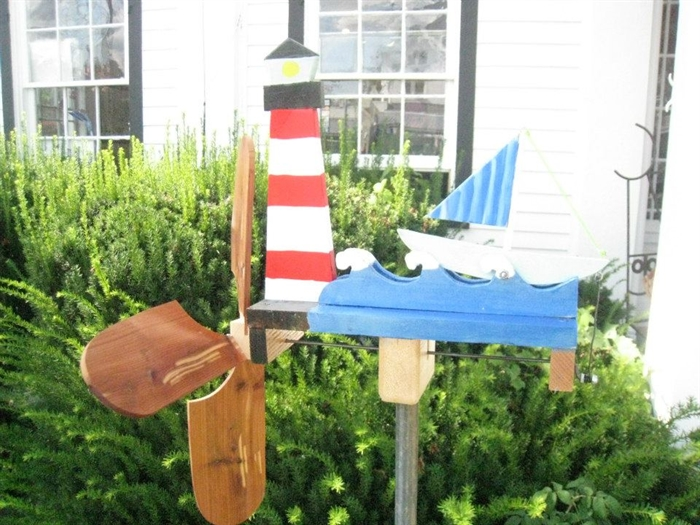 Garden wind chimes delight passing visitors