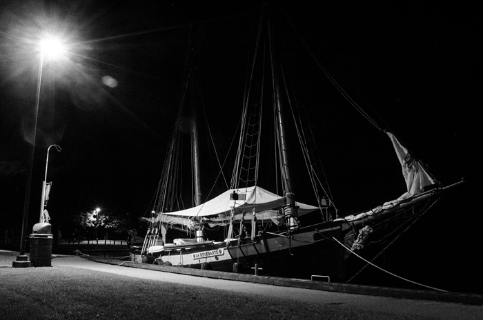 La Revenante waits patiently at night for the many visitors to arrive in the morning.