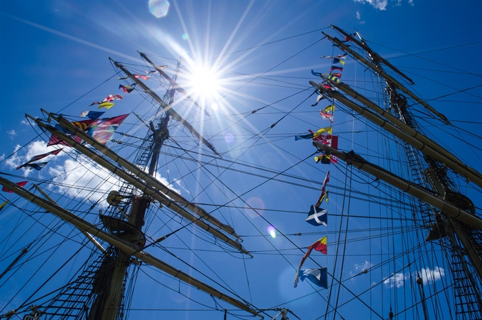 The Sørlandet based in Norway was the largest tall ship in attendance. Photo by M. Chahley