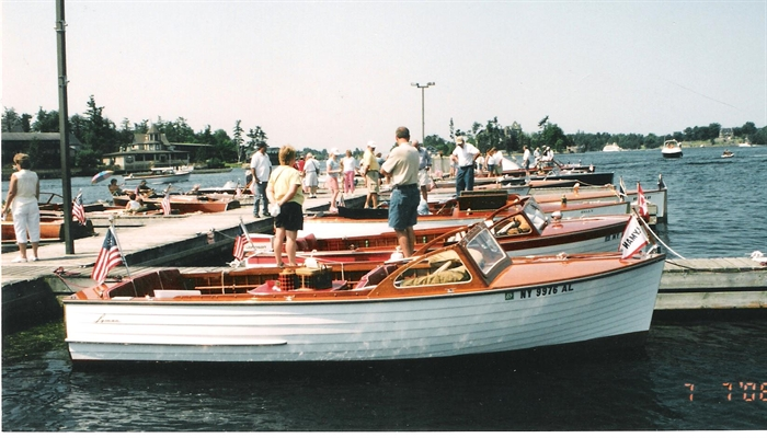 Lymans are most popular entries in the annual Alexandria Bay Boat Shows. Photo A. Mollica Collection