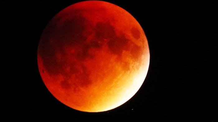 Art Pundt's posted his photo of the Blood Moon on the Thousand Islands River Views facebook page