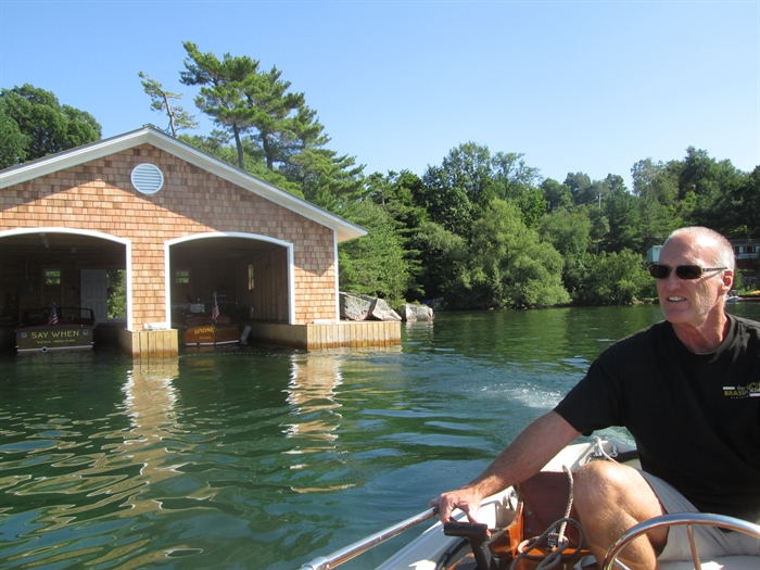 Our finished north shore boathouse