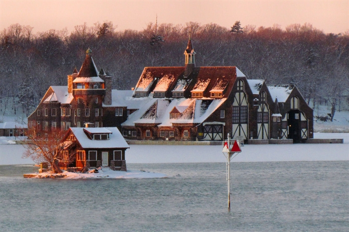 Boldt Yacht House, Wellesley Island, January 15, 2012. Photo by Paul Cooledge
