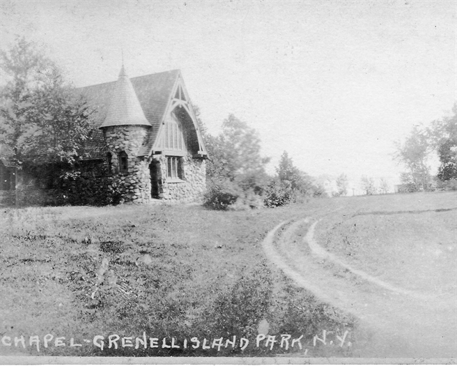 An early postcard of the Grenell Island Chapel.  Photo McElfresh Family Collection