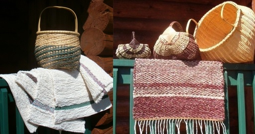 Woven textiles and baskets by Claudia Loomis Chandler of Completely Claudia.
