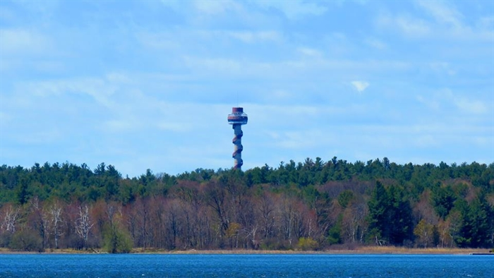 Dennis McCarthy captures The 1000 Islands Tower on Hill Island.
