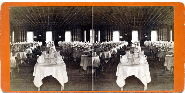 Dining Room -- This is an interior shot of the original Dining Hall at Thousand Island Park.