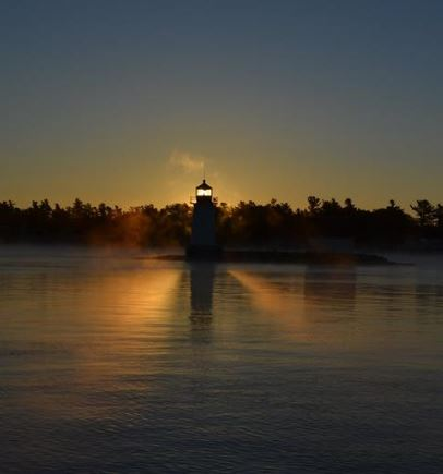 Doug Tulloch's sunrise in the Thousand Islands.