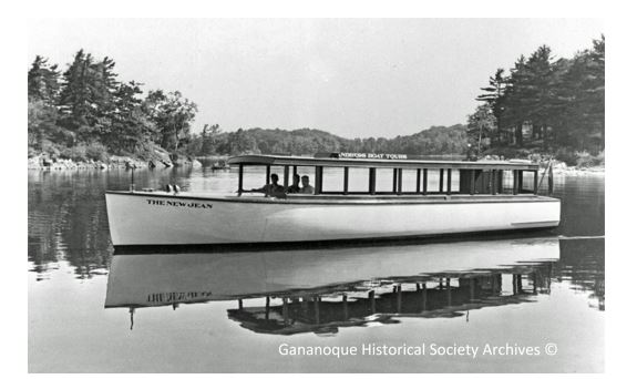 """The New Jean"" was built by Ray Andress and later became part of the 1000 Island Boat Line operating out of Gananoque."