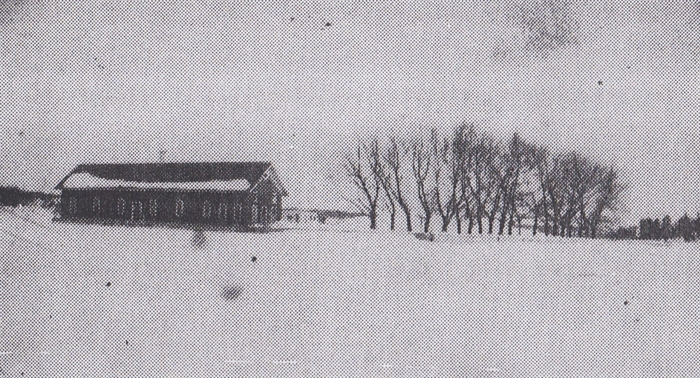 Boathouse on Hub Island prior to 1921 storm. Photo courtesy Antique Boat Museum