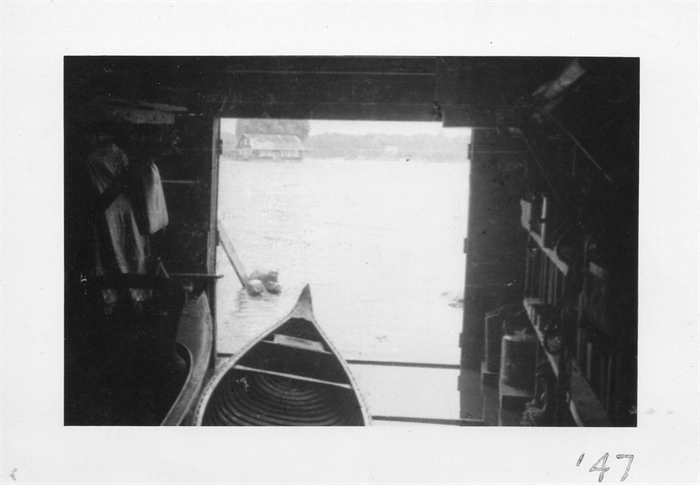 Hub as seen from our skiffhouse on Grenell in 1947.  Photo McElfresh Family Collection