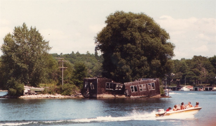 By the late 1970s the Boatwork's roof falls in.