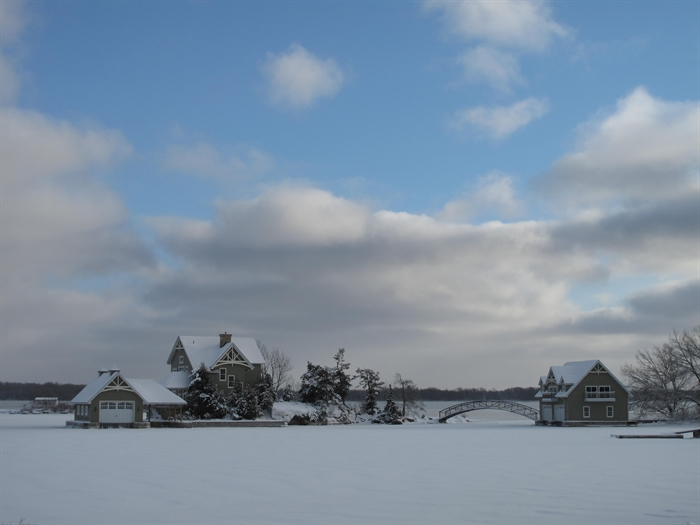 A warm winter day in the Thousand Islands, January 16, 2012. Photo by Fred Guild