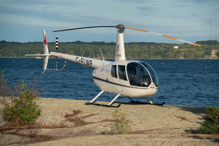 1000 Islands Helicopter tours were enjoyed all summer.  Photo by Ian Coristine