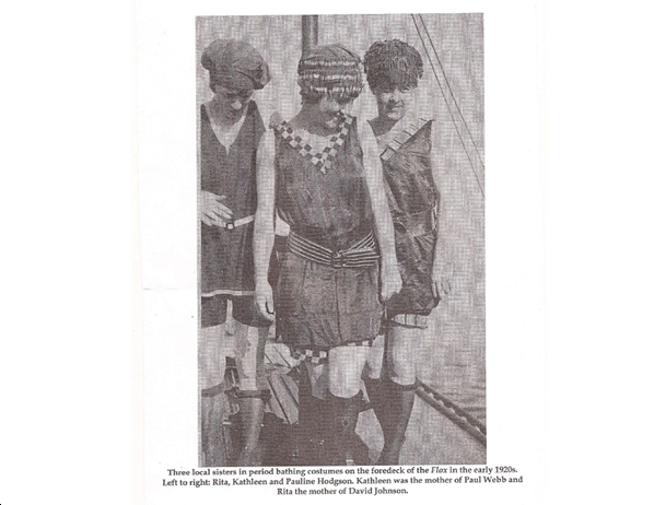 FLOX scrapbook - Paul Webb's mother Kathleen and her two sisters.