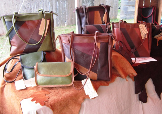 The Leather Artisan, Tom and Donna Amoroso come from their studio in the Adirondacks.
