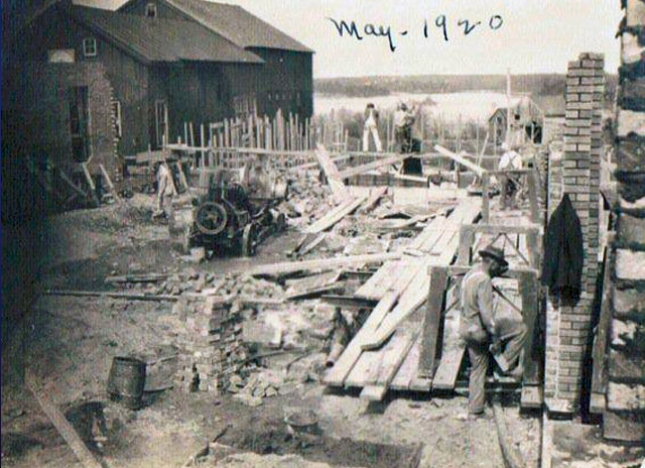 Number 5 taken in May 1920 during the construction of Kabel's Garage which still stands.