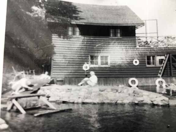 The boathouse from the West side in 1961.