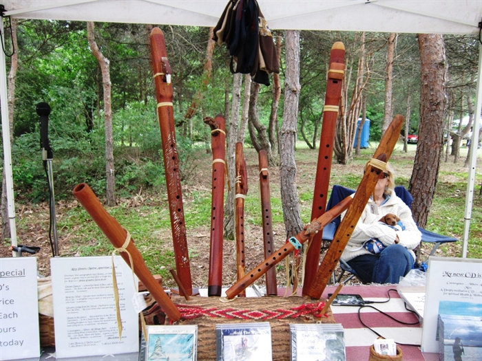 Roy Peters and Storyteller Flutes in their 4th year with Arts Fest. Photo by K. Cross