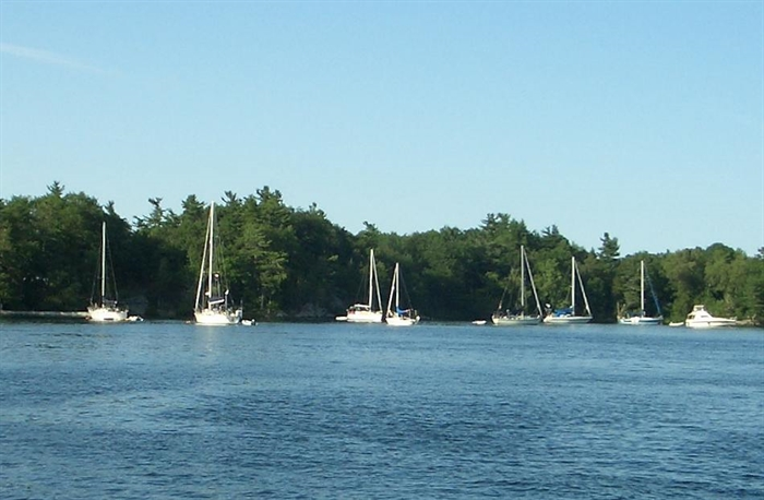 Sailing is very popular in Canada and there seem to be a lot more large sailboats than on the US side.