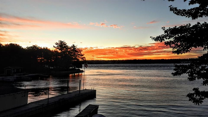 Stacey Cuminale captures sunrise on Wellesley Island