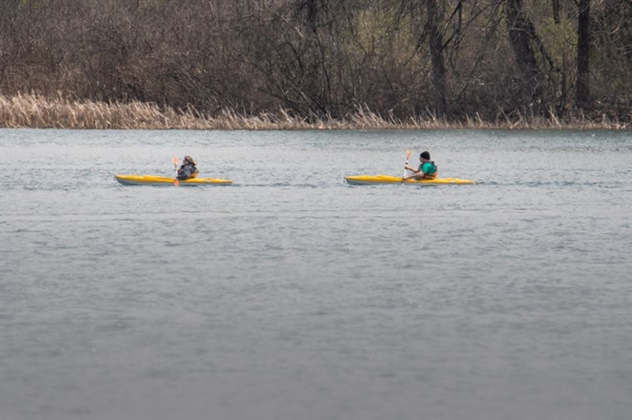 Tom Roberts finds Kayaks out for the day, May 13 and pictured on 1000 Islands River Rats Then and Now.