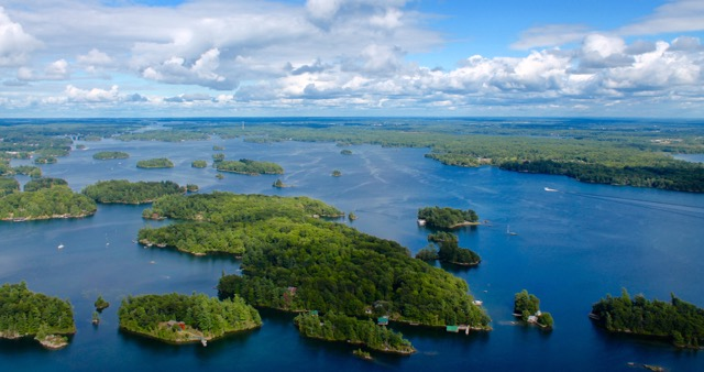 Bird's Eye View: Downie Island, the large island pictured here in the Navy Group of Islands, used to have a hotel called Float Island House in the early 1900s. Photo by Kim Lunman/Island Life Magazine/ www.islandlifemag.ca