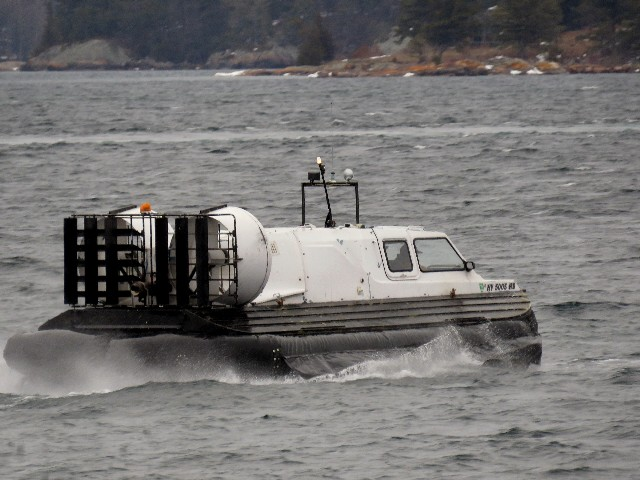 Dennis McCarthy captures a hovercraft off of Clayton, NY