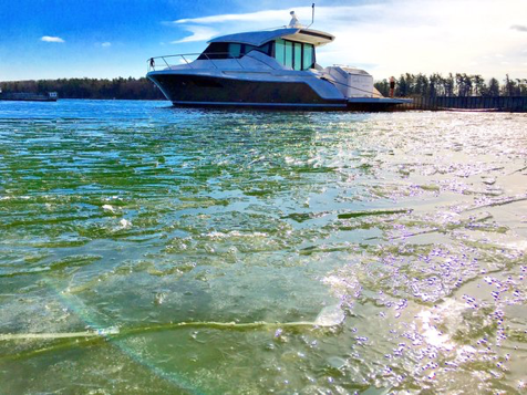 Huck Marine shared on Facebook - yes, that is ice.