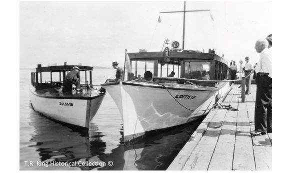 "The ""Julia III"" and the ""Edith III"", both operating out of Clayton, showed the difference in size between some of the tour boats."