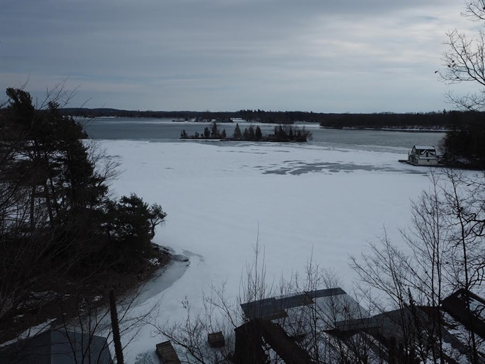 Mark Russell finds the Gananoque waterfront when it first froze.. then it melted!