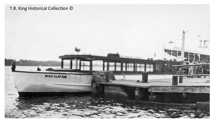 """Miss Clayton"" was operated by the Yacht Edith Lines and operated out of both Clayton and Gananoque."
