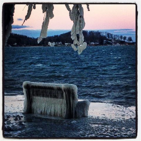 Sarah Ellen Smith captures an Ice Chair in Clayton, NY