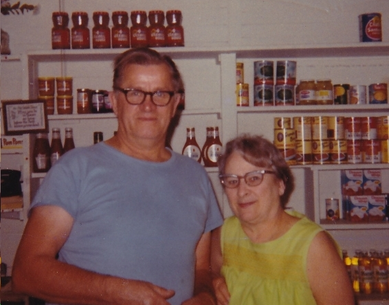 "The Slomczweskis --""Uncle"" Ed and ""Aunt"" Ruth—ran the store from 1960 – 1982. Ward Family Collection"