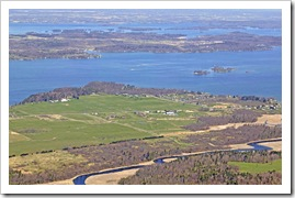 Zenda Farm (Thousand Islands Land Trust), French Creek, Grindstone in the the distance