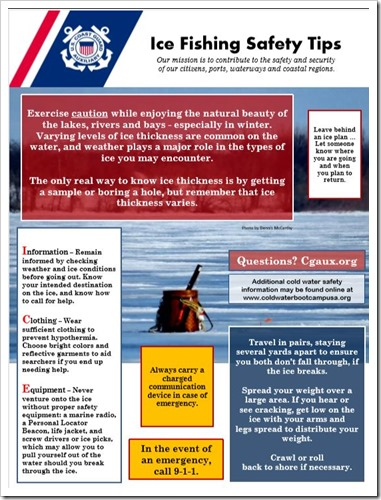 Ice Fishing Safety Poster