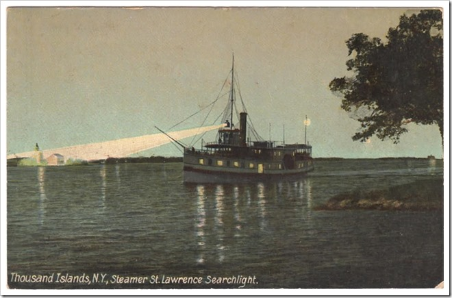Post Card steamer St lawrence