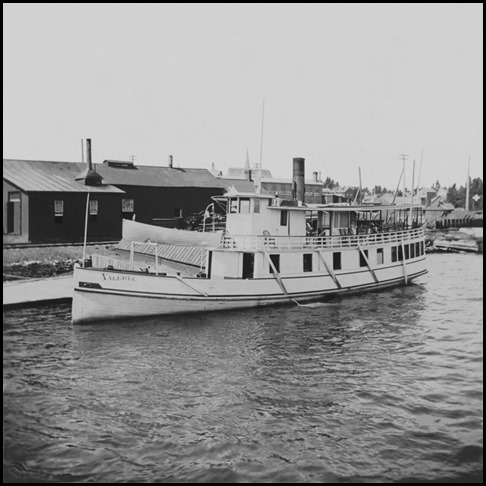 Steamboat Valeria at Gananoque, Ontario, Canada, about 1896-87.